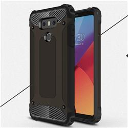 King Kong Armor Premium Shockproof Dual Layer Rugged Hard Cover for LG G6 - Black Gold