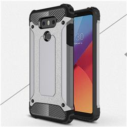 King Kong Armor Premium Shockproof Dual Layer Rugged Hard Cover for LG G6 - Silver Grey