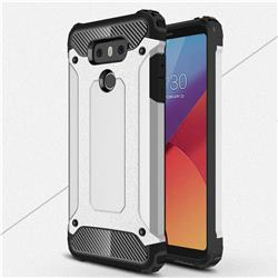 King Kong Armor Premium Shockproof Dual Layer Rugged Hard Cover for LG G6 - Technology Silver