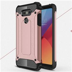 King Kong Armor Premium Shockproof Dual Layer Rugged Hard Cover for LG G6 - Rose Gold