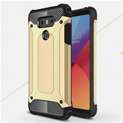 King Kong Armor Premium Shockproof Dual Layer Rugged Hard Cover for LG G6 - Champagne Gold