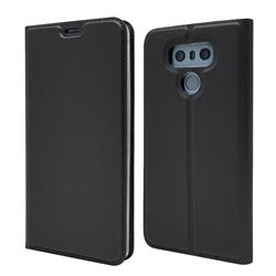 Ultra Slim Card Magnetic Automatic Suction Leather Wallet Case for LG G6 - Star Grey