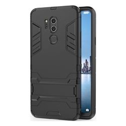 Armor Premium Tactical Grip Kickstand Shockproof Dual Layer Rugged Hard Cover for LG G7 ThinQ - Black