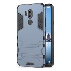Armor Premium Tactical Grip Kickstand Shockproof Dual Layer Rugged Hard Cover for LG G7 ThinQ - Navy