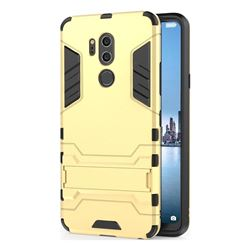 Armor Premium Tactical Grip Kickstand Shockproof Dual Layer Rugged Hard Cover for LG G7 ThinQ - Golden