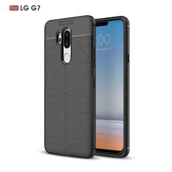 Luxury Auto Focus Litchi Texture Silicone TPU Back Cover for LG G7 ThinQ - Black