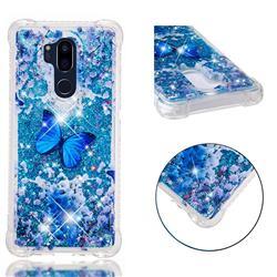 Flower Butterfly Dynamic Liquid Glitter Sand Quicksand Star TPU Case for LG G7 ThinQ
