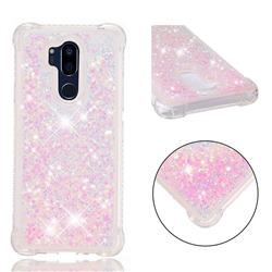 Dynamic Liquid Glitter Sand Quicksand TPU Case for LG G7 ThinQ - Silver Powder Star