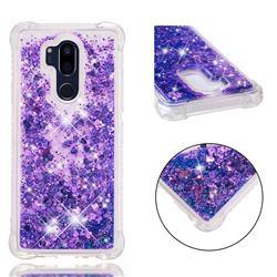 Dynamic Liquid Glitter Sand Quicksand Star TPU Case for LG G7 ThinQ - Purple