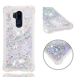 Dynamic Liquid Glitter Sand Quicksand Star TPU Case for LG G7 ThinQ - Silver