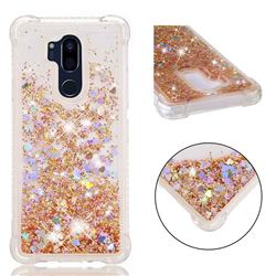 Dynamic Liquid Glitter Sand Quicksand Star TPU Case for LG G7 ThinQ - Diamond Gold