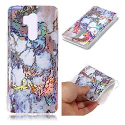 Gold Plating Marble Pattern Bright Color Laser Soft TPU Case for LG G7 ThinQ