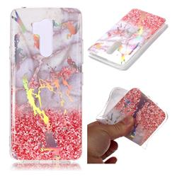 Powder Sandstone Marble Pattern Bright Color Laser Soft TPU Case for LG G7 ThinQ