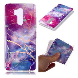 Dream Sky Marble Pattern Bright Color Laser Soft TPU Case for LG G7 ThinQ