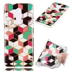 Three-dimensional Square Soft TPU Marble Pattern Phone Case for LG G7 ThinQ