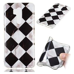 Black and White Matching Soft TPU Marble Pattern Phone Case for LG G7 ThinQ