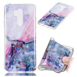 Purple Amber Soft TPU Marble Pattern Phone Case for LG G7 ThinQ