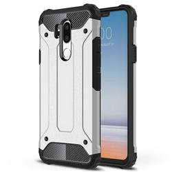 King Kong Armor Premium Shockproof Dual Layer Rugged Hard Cover for LG G7 ThinQ - Technology Silver