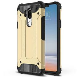King Kong Armor Premium Shockproof Dual Layer Rugged Hard Cover for LG G7 ThinQ - Champagne Gold
