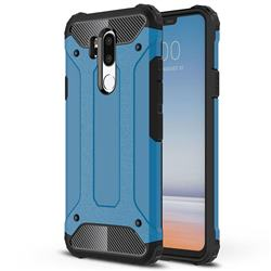King Kong Armor Premium Shockproof Dual Layer Rugged Hard Cover for LG G7 ThinQ - Sky Blue