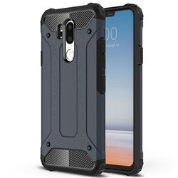 King Kong Armor Premium Shockproof Dual Layer Rugged Hard Cover for LG G7 ThinQ - Navy
