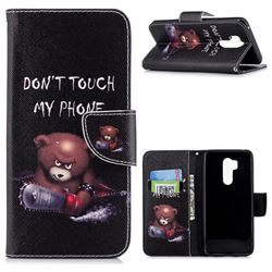 Chainsaw Bear Leather Wallet Case for LG G7 ThinQ