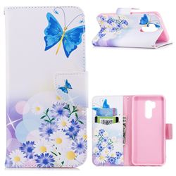 Butterflies Flowers Leather Wallet Case for LG G7 ThinQ