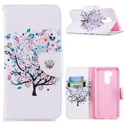 Colorful Tree Leather Wallet Case for LG G7 ThinQ