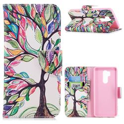 The Tree of Life Leather Wallet Case for LG G7 ThinQ