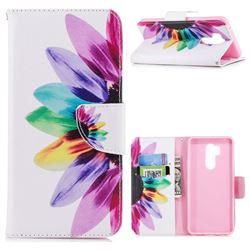 Seven-color Flowers Leather Wallet Case for LG G7 ThinQ