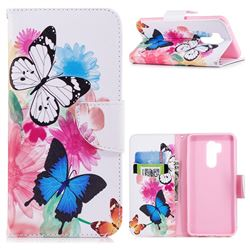 Vivid Flying Butterflies Leather Wallet Case for LG G7 ThinQ