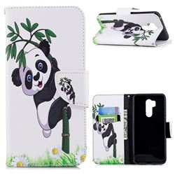 Bamboo Panda Leather Wallet Case for LG G7 ThinQ