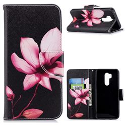 Lotus Flower Leather Wallet Case for LG G7 ThinQ