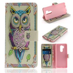 Weave Owl PU Leather Wallet Case for LG G7 ThinQ