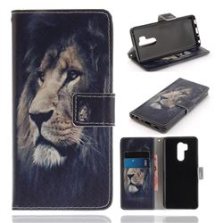 Lion Face PU Leather Wallet Case for LG G7 ThinQ