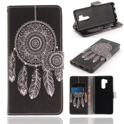 Black Wind Chimes PU Leather Wallet Case for LG G7 ThinQ