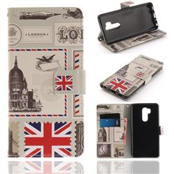 London Envelope PU Leather Wallet Case for LG G7 ThinQ