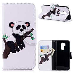 Tree Panda Leather Wallet Case for LG G7 ThinQ