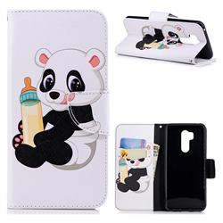 Baby Panda Leather Wallet Case for LG G7 ThinQ