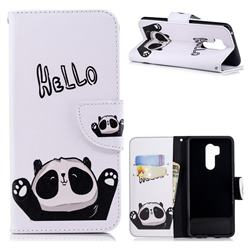 Hello Panda Leather Wallet Case for LG G7 ThinQ