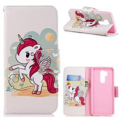 Cloud Star Unicorn Leather Wallet Case for LG G7 ThinQ