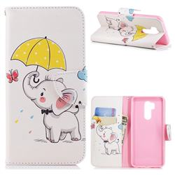 Umbrella Elephant Leather Wallet Case for LG G7 ThinQ