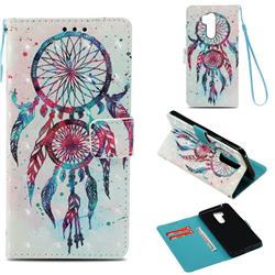 ColorDrops Wind Chimes 3D Painted Leather Wallet Case for LG G7 ThinQ