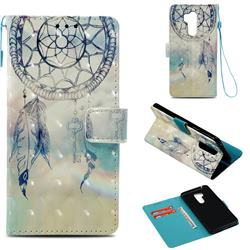 Fantasy Campanula 3D Painted Leather Wallet Case for LG G7 ThinQ