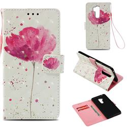 Watercolor 3D Painted Leather Wallet Case for LG G7 ThinQ