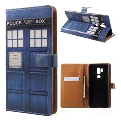 Police Box Leather Wallet Case for LG G7 ThinQ