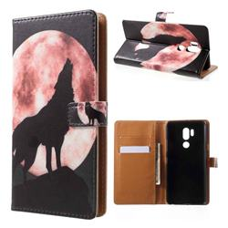 Moon Wolf Leather Wallet Case for LG G7 ThinQ