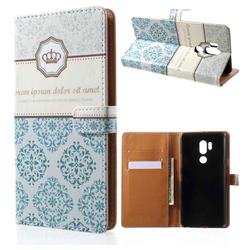 Crown Moroccan Leather Wallet Case for LG G7 ThinQ