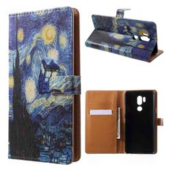 Lighthouse Painting Leather Wallet Case for LG G7 ThinQ