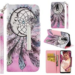 Angel Monternet Big Metal Buckle PU Leather Wallet Phone Case for LG G7 ThinQ